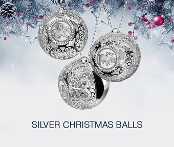 Collection «Silver chrismass balls»